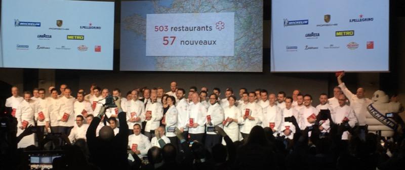 57 nouveaux arrivants avec une étoile au Guide Michelin 2017